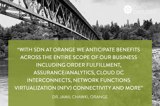 """With SDN at Orange we anticipate benefits across the entire scope of our business including order fulfillment, assurance/analytics, cloud DC interconnects, Network Functions Virtualization (NFV) connectivity and more"""
